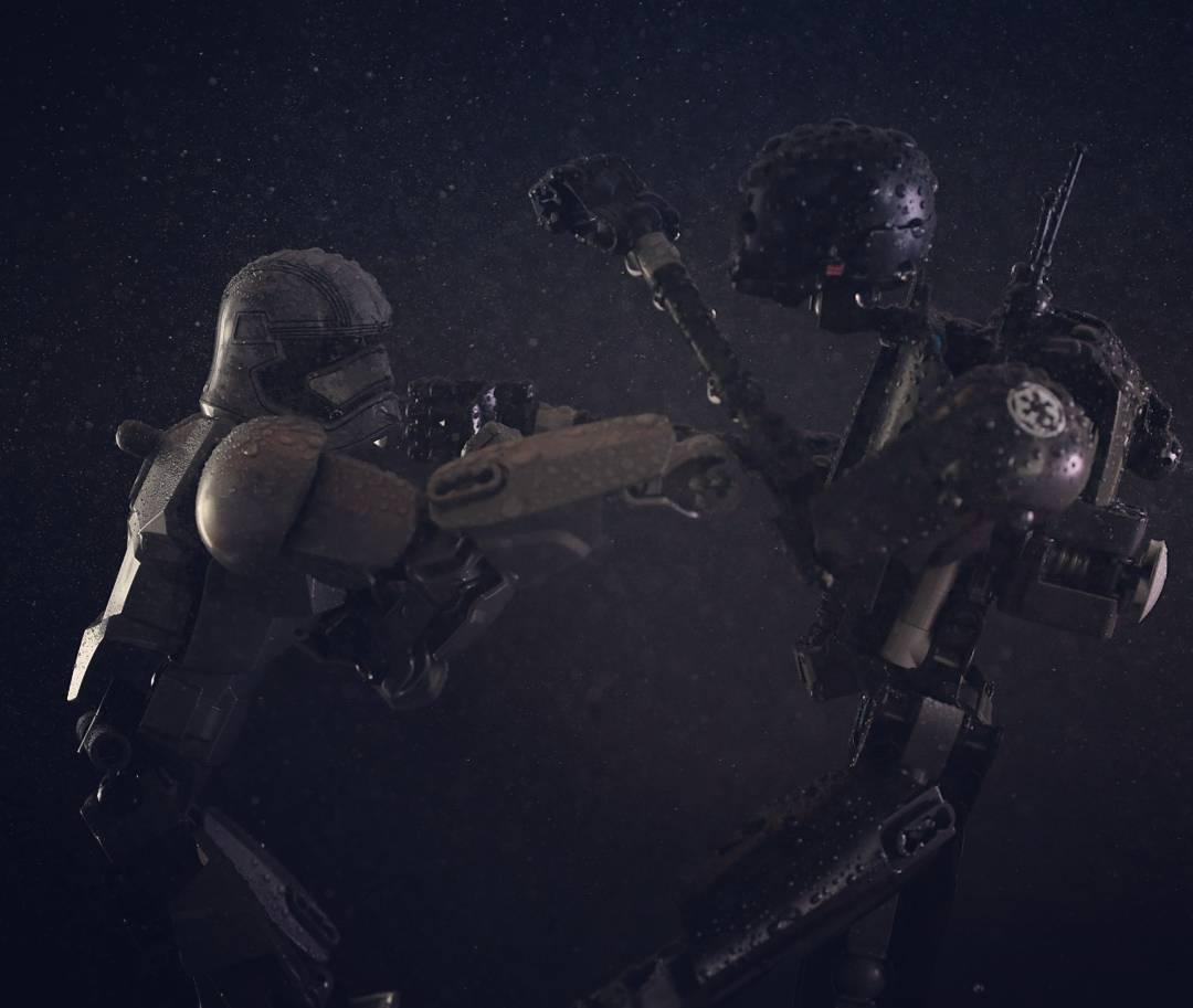 I Combattenti si fronteggiano