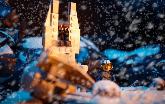 let it snow cinematograph lego diorama macro